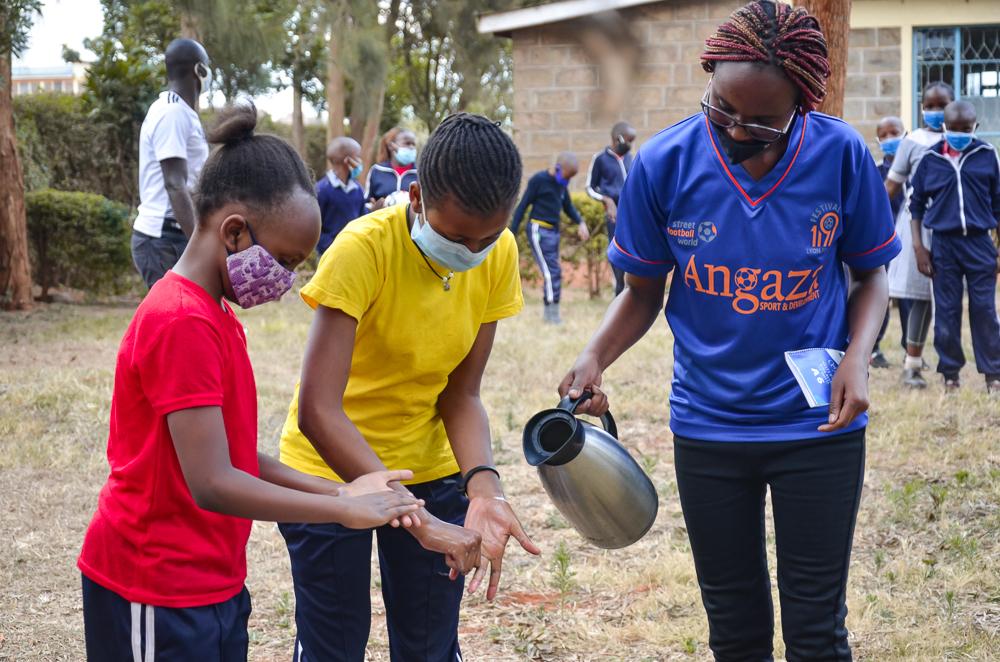 Angaza hand washing